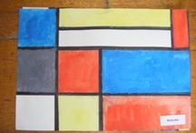 J30 Mondrian inspired artwork (2015) / Mondrian grid art created by Y30 using primary colours