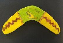J30 Aboriginal Art (2015) / Aboriginal inspired mod roc Boomerangs created by J30.
