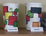 J6W Mod Rock Containers 2015/16 / Inspired by Susie Coopers style, patterns and use of colour.