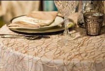 Vintage Inspired Wedding / A little satin and a lot of lace make for a beautifully nostalgic celebration of love....isn't it romantic? At Table Wraps Ltd, we can make your vintage dreams come true with our extensive collection of romantic table linens.