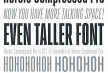 Typefaces - Compressed