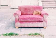 To sit / Beautiful chairs, lounge chairs, sofa, anything to sit your tooshie on. :)