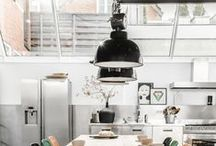 Home Interiors: Industrial Lighting / The use of industrial lighting in the modern home.