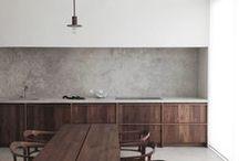 Minimal Home: Wood, Concrete and Ceramics