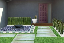 Modernist garden retreat / I'm designing a contemporary Southern California garden for a celebrity wedding planner whom we all know and love.  The key is low maintenance, clean lines, and architectural non-flowering plants.