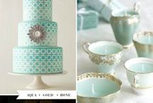 Tiffany Blue Weddings / Tiffany Blue color is one of the best color to use at your wedding. Clean and sophisticated color both look modern and elegant. Great for the summer wedding parties!