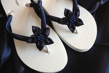 Chic Flip Flops / These are gorgeous for weddings and parties! I saw a lot of bare foot ladies this new year and these are great with any designer,chic gowns, dresses...