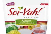 Productos vegetarianos COLPAC / Productos  vegetarianos elaborados con base de soya y trigo, ideales para ti que deseas vivir un estilo de vida saludable.
