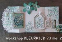 Workshop KLEURRIJK van Anita Izendoorn / In maart - april - mei 2015 gaf Anita Izendoorn de workshop KLEURRIJK bij Doe@ding.