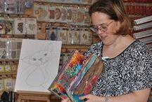 "Workshop Miranda Bosch - 14 november 2015 / Op zaterdag 14 november 2015 gaf Miranda Bosch een workshop ""Fantasievogels"" maken."