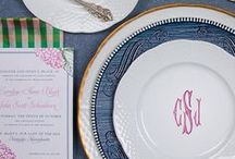 Perfect Place Settings / Place Settings | Mix vintage & modern dinnerware to create some of the most gorgeous tablescapes. A beautiful tabletop sets the tone for the entire meal, so have fun & get creative. Our custom monogram dishes pair beautifully with vintage china. SHOP our monogrammed white porcelain china dinnerware http://www.sashanicholas.com