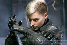 Female characters / Cyberpunk, Shadowrun, Scifi characters