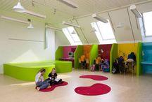 Schoolinrichting / Hoe maak je effectieve, kindvriendelijke ruimtes in een schoolgebouw? Met de 21ste Century Skills in gedachten.