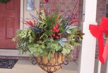 Winter Container Ideas / Porch pots and other outdoor winter décor ideas.