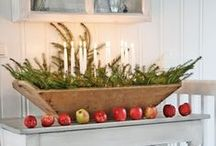 Winter Indoor Decor / Fresh greens used inside the home.