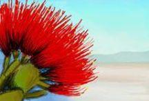 Pohutukawa flower Art / Symbol of NZ summer living