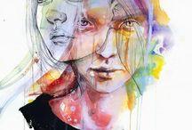 water colour painting - portrait