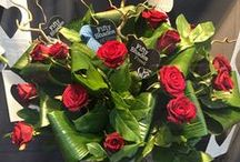 Valentines flowers / Red roses with a hint of originality