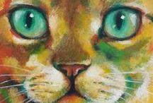 Cat Art / カワイイ!リアル!シュール!色んな表情のねこたち