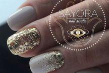 Nails - Glitter/Gold/Silver