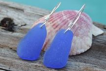 EARRINGS / Sea glass earrings for the modern day sea goddess!