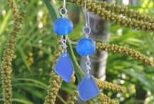 COBALT BLUE SEA GLASS / Beautifully handmade sea glass jewelry with authentic blue sea glass.