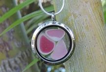 LOCKETS / We fill these lockets with beautiful sea glass and are offering these fun lockets at bargain prices!
