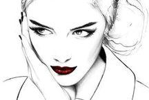 Illustrated Glam / Fashion illustrations