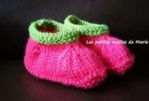 tricot crochet  layette (modèles gratuits) / Pleins de tutoriels gratuits pour tricoter et crocheter de la layette.