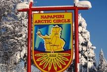 Rovaniemi in Lapponia / Rovaniemi, la capitale della Lapponia in Finlandia, è l'<Ufficiale Città di Babbo Natale>.