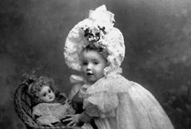 Doll related antique photos, paintings and ephemera