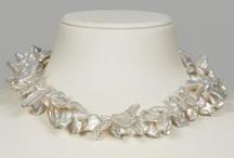 Keshi Perlenketten / Elegante Perlenketten und Colliers aus Keshiperlen