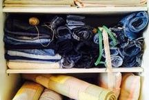 handmade by TD Handmade / Handmade handwoven home decorative items made of recycled denim , cotton ,leather ,linen ...