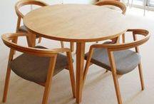 無垢テーブル+チェア