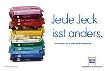 RITTER SPORT Plakate / Die RITTER SPORT Plakate der vergangenen Jahre.