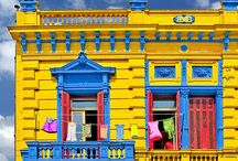 Colorful Facades / Buildings and places with a distinctive use of color