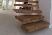 Escalera con tarima maciza Junckers roble una Lama / ¿Quieres una escalera de madera? Y si la hacemos con la misma tarima