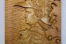 Wood carving / Worked reliefs carvings, bowls, sculptures and accessories.