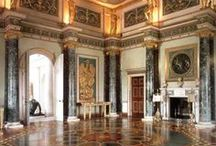 Syon House/London / Syon House, and its 200-acre (80 hectare) Park, Syon Park, is in West London, Historically within the Parish of Isleworth, in the County of Middlesex. It belongs to the Duke of Northumberland and is now his family's London residence. The family's traditional central London residence had been Northumberland House, now demolished. The eclectic interior of Syon House was designed by the architect Robert Adam in the 1760s.