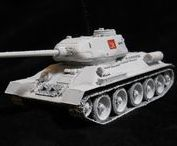 T-34/85 Medium Tank / The T-34 was a Soviet medium tank that had a profound and lasting effect on the field of tank design. Although its armour and armament were surpassed later in the war, it has often been credited as the most effective, efficient and influential tank design of the Second World War.