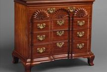 Furniture: Cabinet / A cabinet is a box-shaped piece of furniture with doors and/or drawers for storing miscellaneous items. Some cabinets stand alone while others are built in to a wall or are attached to it like a medicine cabinet. Cabinets are typically made of wood (solid or with veneers or artificial surfaces), coated steel (common for medicine cabinets), or synthetic materials. Commercial grade cabinets, which differ in the materials used, are called casework.