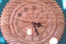 clock carved in wood / beautiful wall clock carved in wood
