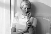 Michelle Williams in b&w / by Maite Pascual