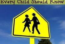 Back To School Safety / As we get ready to head back to school...