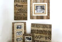 repurposed wood wall art / These popular signs are made from aged and naturally weathered reclaimed wood and hand painted with fun quotes and meaningful expressions.  Perfect to bring love and laughter into your home!