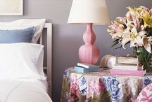Bedroom decor / Ideas for textiles for bedroom duvets/quilt, decor and paint colors, furniture / by Emily Cole