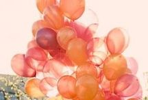 cotton-candy and tangerine mood board / by Southern Blooms/ Pat's Floral Designs