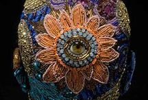 Appliqué + Embroidery / Luxury Embroidery & Appliqué textiles, frabics, hand beaded and emblished garmets. Haute Couture details +