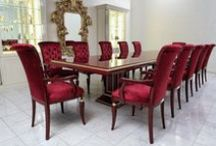 Dining Groups / Dining tables and fully upholstered chairs from Finkeldei.