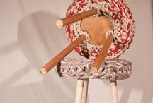 PACAYA furniture* / Hand made furniture using wood and knitted textiles